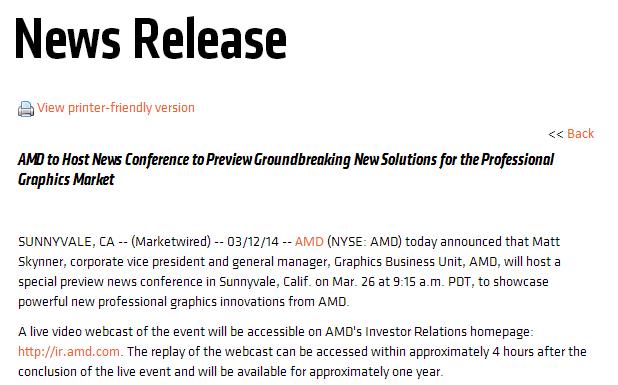AMD FirePro Hawaii Launch