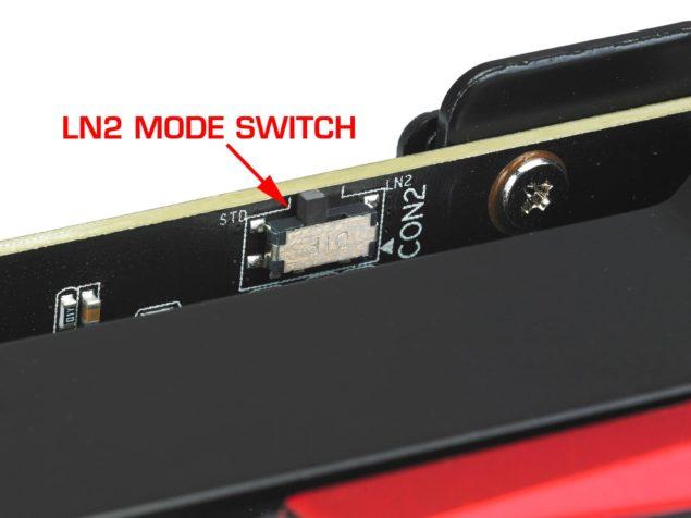 ASUS ROG MATRIX GTX 780 Ti Platinum LN2 Switch