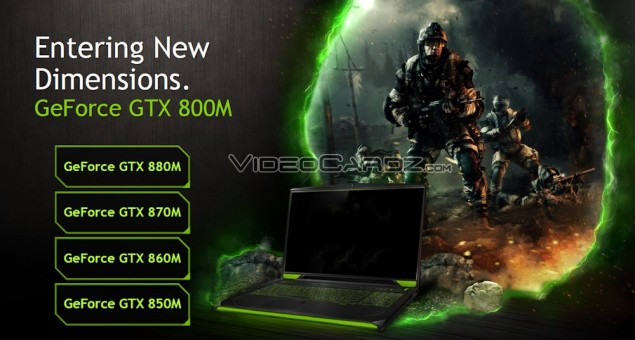 GeForce GTX 800M GTX 880M GTX 870M GTX 860M GTX 850M