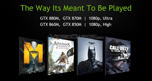 GeForce GTX 800M Mobility Gaming