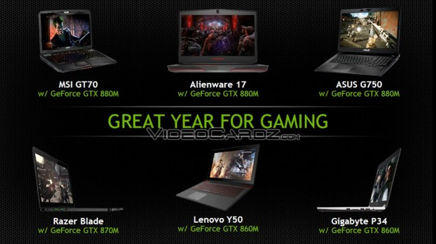 GeForce GTX 800M Mobility Notebooks