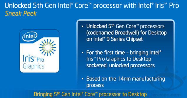 Intel Broadwell Processors Iris Pro