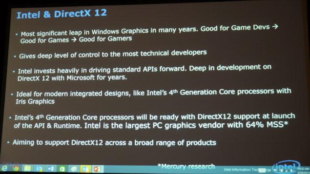 Intel DirectX 12 API GDC 2014