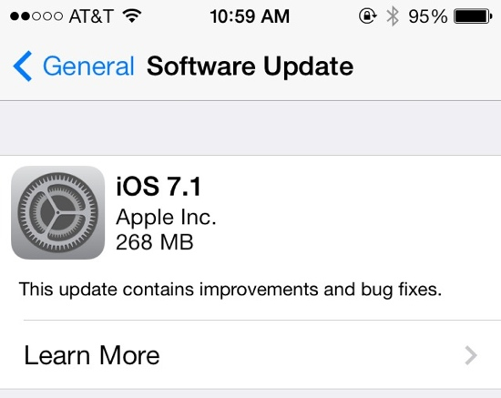 ios 7.1 released