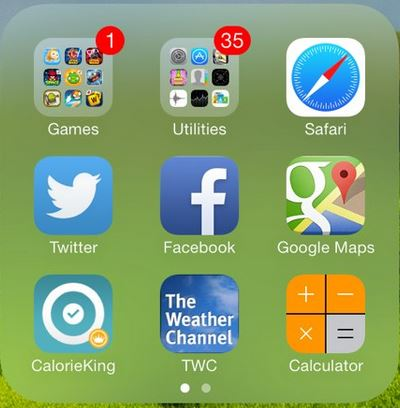 create nested folders in iOS 7.1