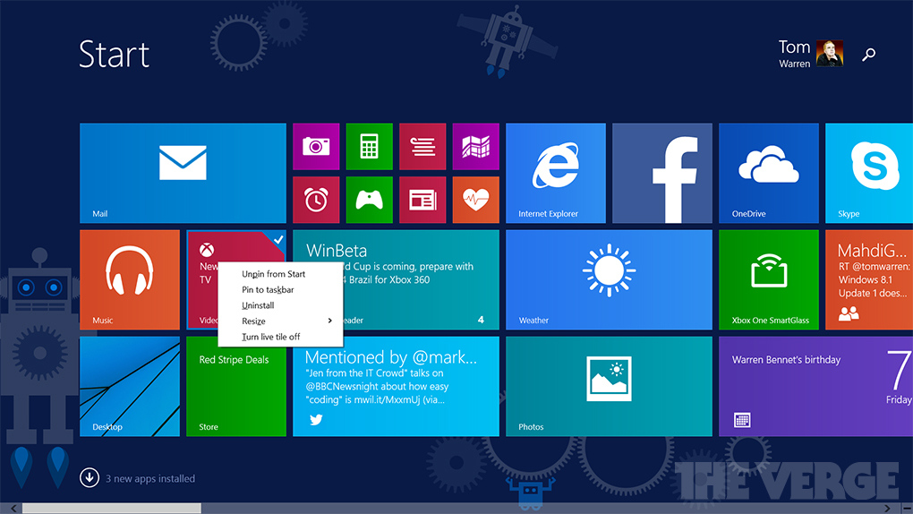 windows 8.1 leaked update
