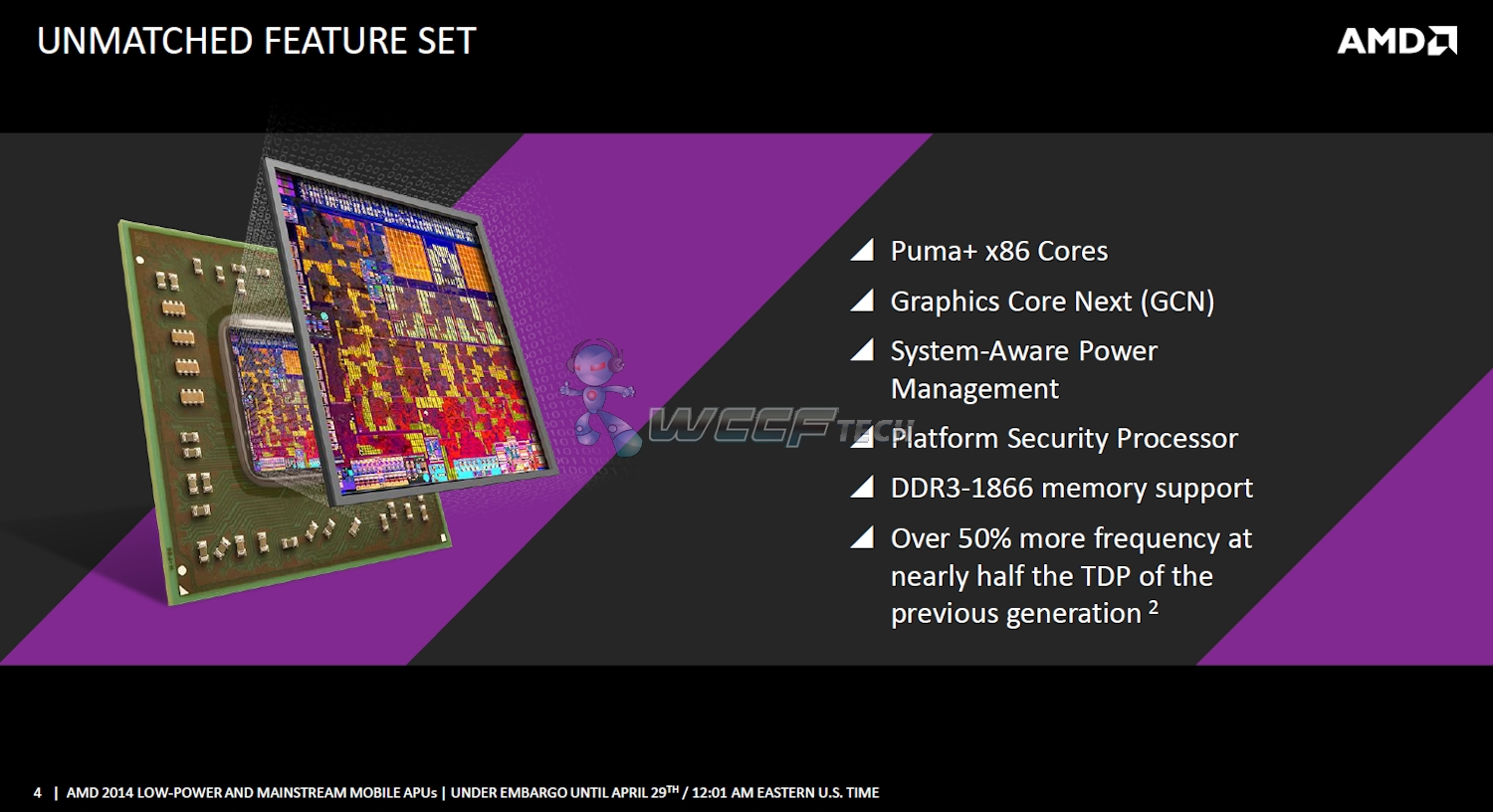 AMD Low Power Mullins and Mainstream Beema APU Detailed