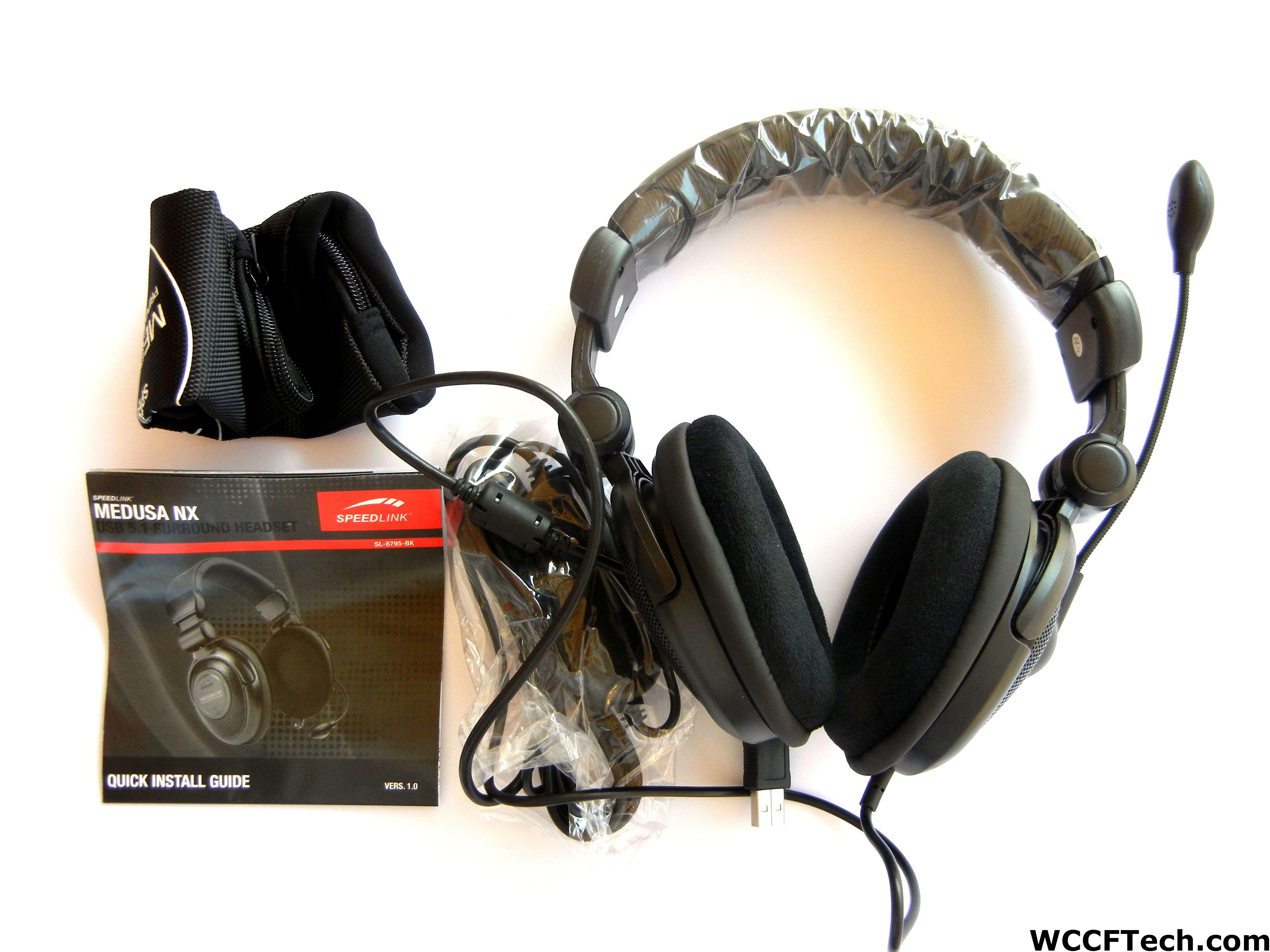 Medusa nx 5. 1 surround headset black   custom pc dubai   pc.