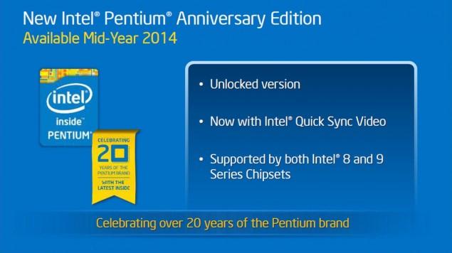 Intel Pentium Anniversary Unlocked Processor