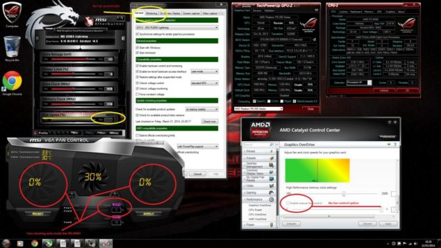 Lightning R9 290X Catalyst 14.3 Fan Bug Overheating