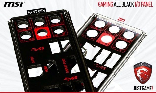 MSI Gaming Z97 Motherboard IO Panel