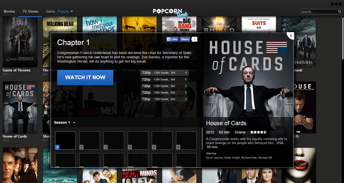 Popcorn Time TV Shows