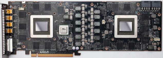 Radeon R9 295X2 PCB Front TPU