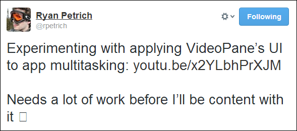 videopane multitasking