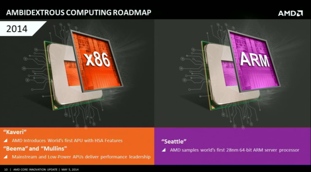 AMD Ambidextrous Roadmap
