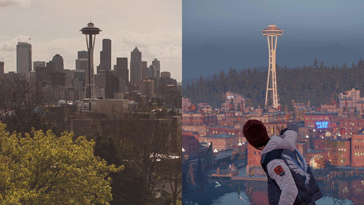 Official InFamous Second Son Screenshot Comparison: In-Game ... on infamous blast shard map, infamous second son queen anne map, infamous second son seattle flag, infamous second son district map, minecraft seattle map, infamous second son city map, infamous 2 map, seattle science center map, infamous second son game map,