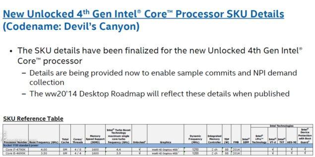 Intel Core i7-4790K  Intel Core i5-4690K