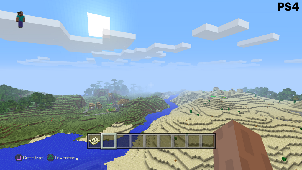 Official Minecraft PS4 vs PS3 and Xbox One vs Xbox 360 Screenshot