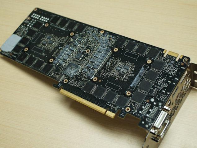 NVIDIA GeForce GTX Titan Z PCB Back