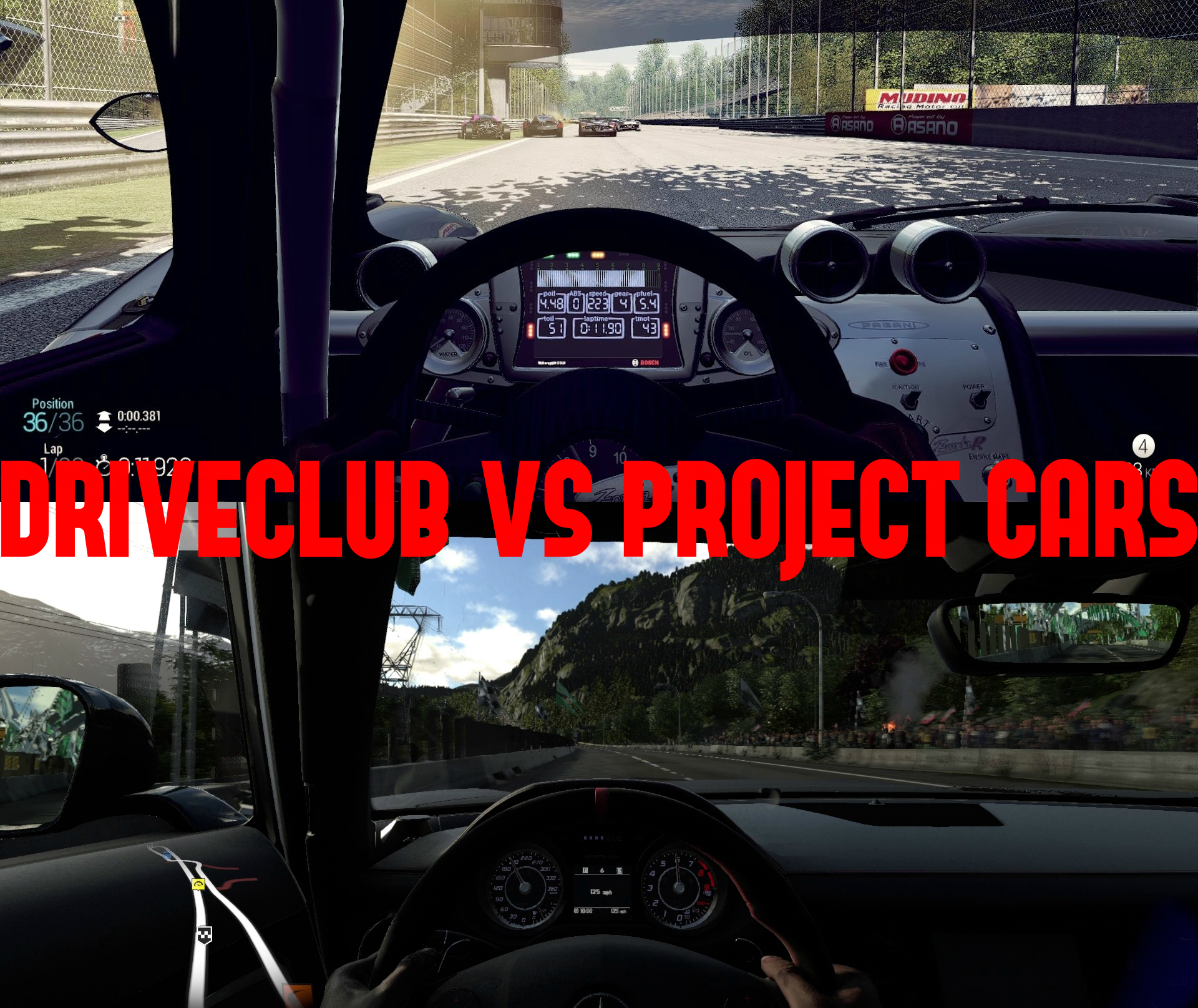 Driveclub Vs Project CARS PlayStation 4 Screenshot Comparison Both