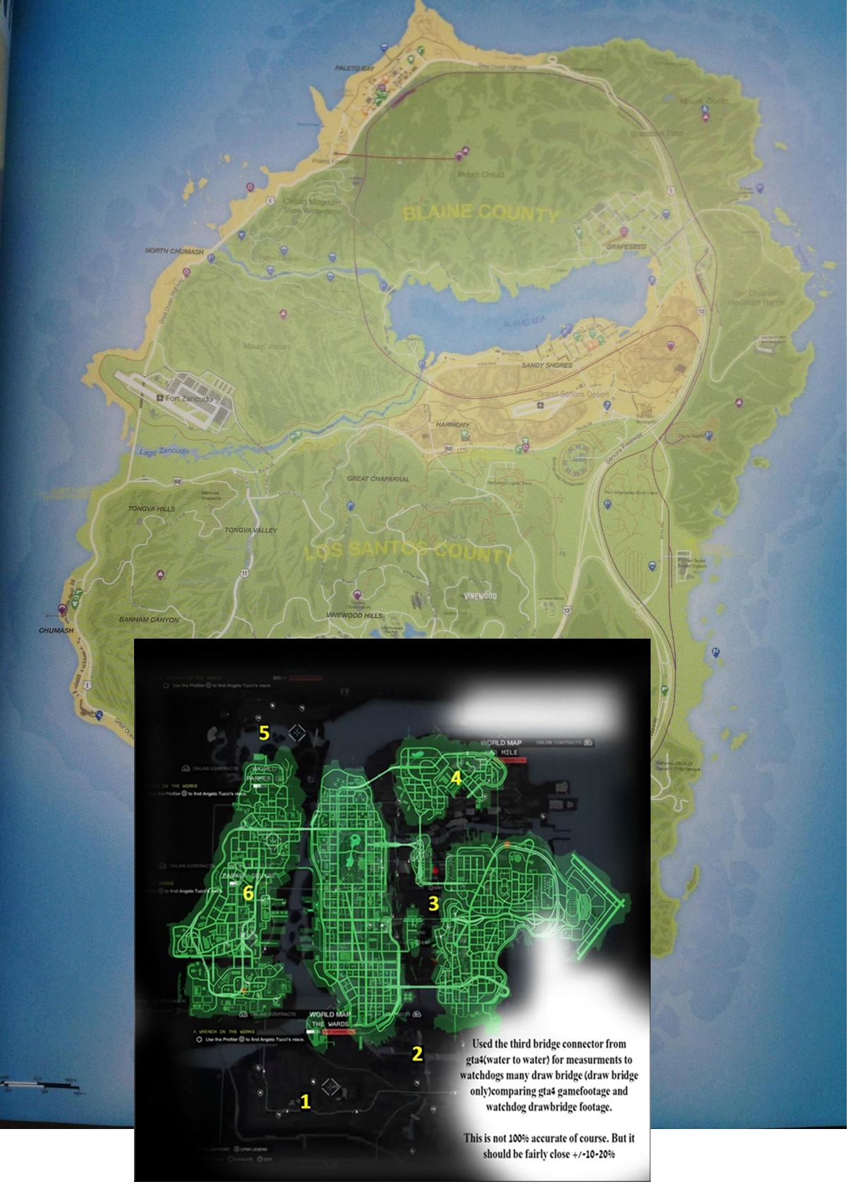 Map grand theft auto v - Watch Dogs 1