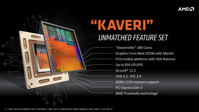 AMD Mobility Kaveri APU Features
