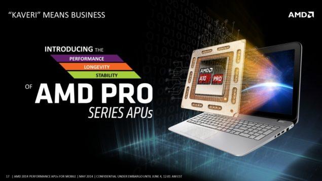 AMD Mobility Kaveri APU PRO Series