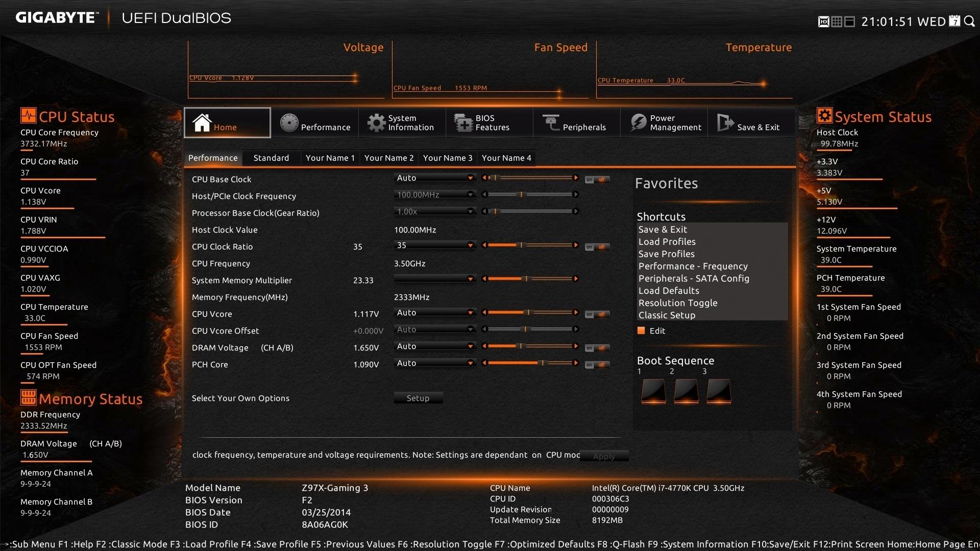 Gigabyte Z97x Gaming 3 Lga 1150 Z97 Chipset Motherboard