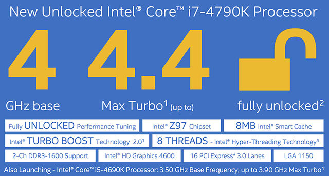 Intel Devil's Canyon Processors Officially Announced - Core i7-4790K