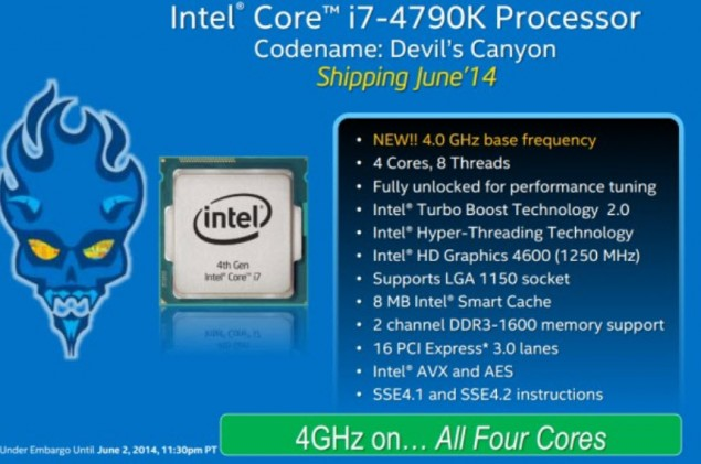 Intel Devil's Canyon Core i7-4790K