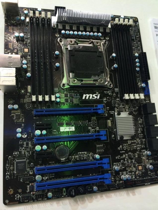 MSI X99 Motherboard Prototype