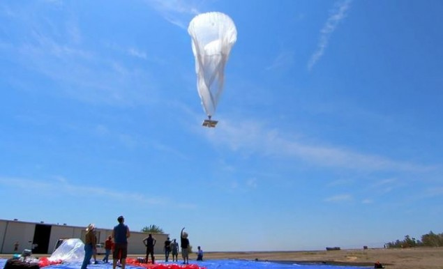 Google I/O internet balloons