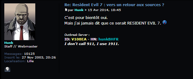 "Translates to, iirc: ""It (the reveal) is for soon yes, but I never said it'll be Resident Evil 7"""