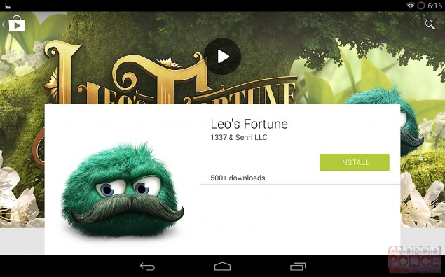 Android L Google Play store