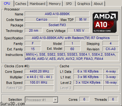AMD 20nm Carrizo APU A10-8890K