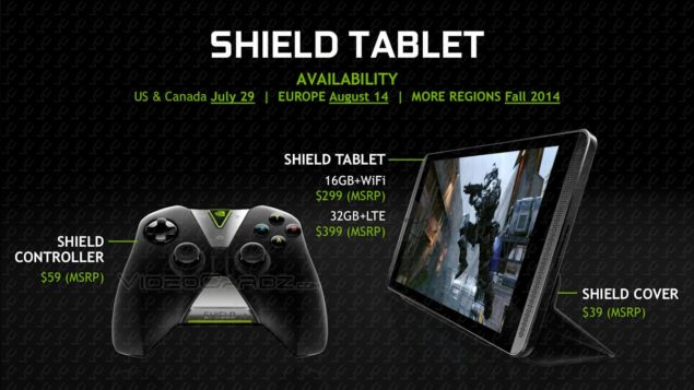 NVIDIA Shield Tablet Price