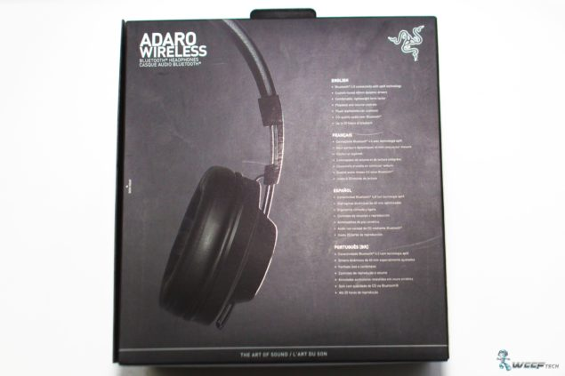Razer Adaro Wirelress Bluetooth_Box Back