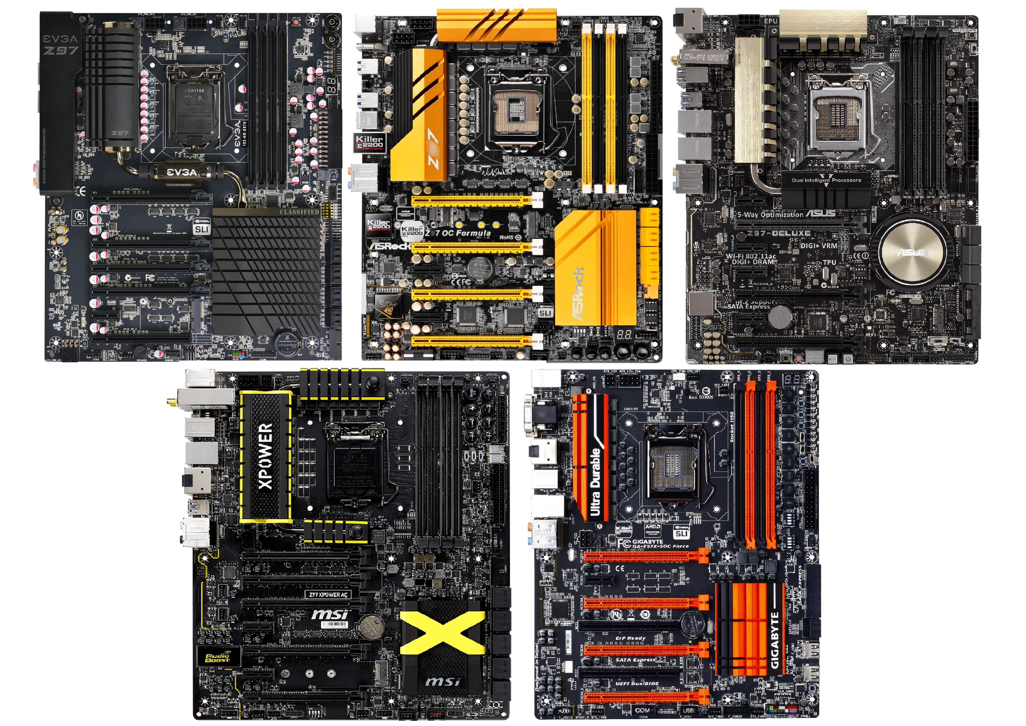 Round-Up of The Best and Top-Tier Overclocking Z97 Motherboards
