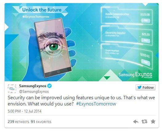 Galaxy Note 4 retina scanner