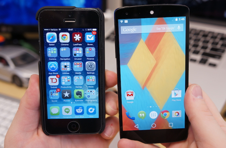 Android L vs iOS 8: First Impressions and Likes