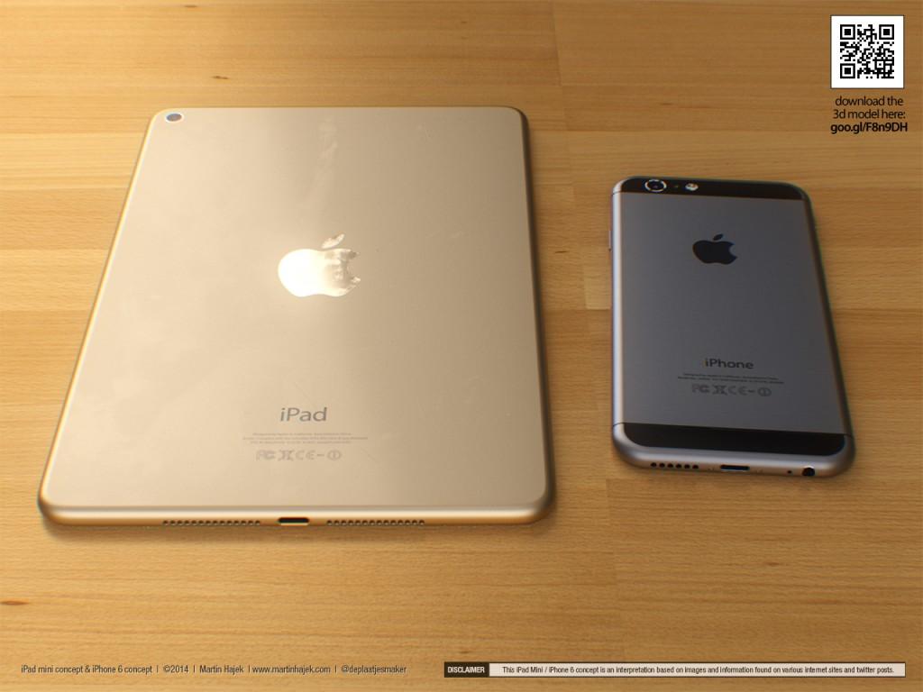 Martin Hajek's 3D Renderings of iPad Mini 3 and iPhone 6