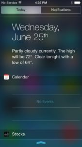 get iOS 8 Notification Center