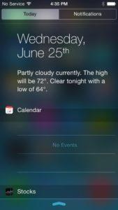 get iOS 8 Notification Center