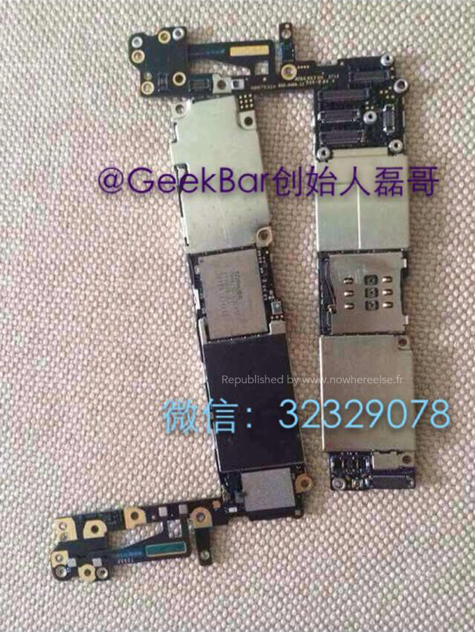 take a look at the iphone 6 motherboard here several internal components detailed
