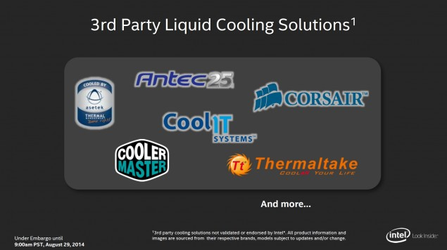 Intel 3rd Party Liquid Solution OEMs