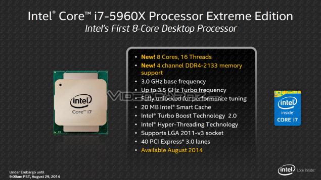 Intel Haswell-E 5960X Processor