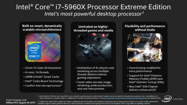 Intel Haswell-E Core i7-5960X Features