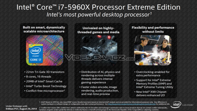 Intel Haswell-E  Core i7-5960X Overview