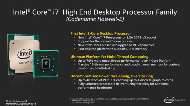 Intel Haswell-E Core i7