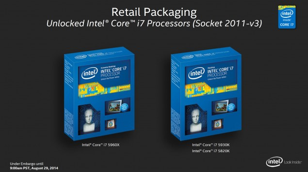 Intel Haswell-E Core i7 Retail Packaging